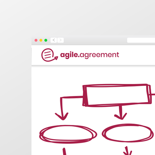 Framework design with the title 'Logo concept for AGILE framework'