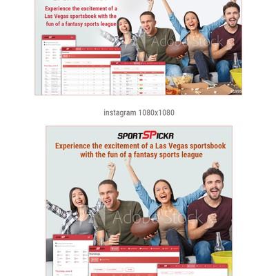banner ad for sportspickr