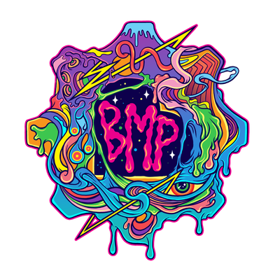 Abstract Psychedelic logo variation for Big Machine Production