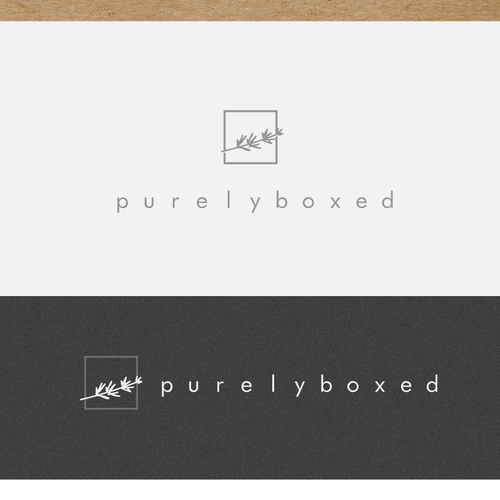 Ecommerce logo with the title 'Simple, eco-friendly, elegant and high-end gift boxes & bows'