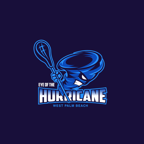 Hurricane design with the title 'logo design'