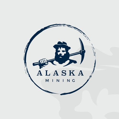 Gold logo with the title 'Alaska mining'