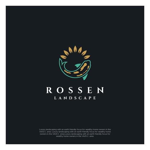 Landscape design with the title 'Rossen Landscape'