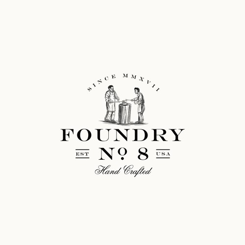 Wax logo with the title 'Foundry NO8 logo'