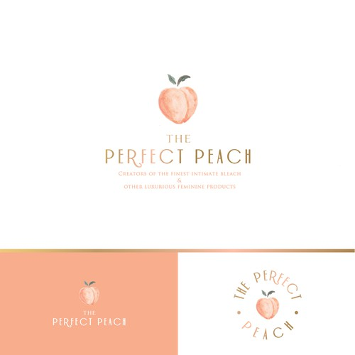 Peach logo with the title 'Watercolor logo '