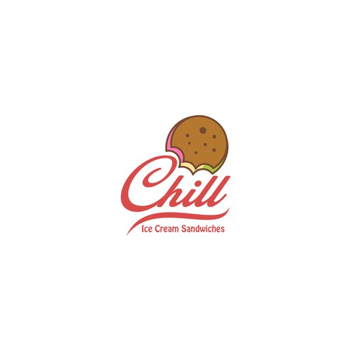 Sandwich logo with the title 'Chill Ice Cream Sandwiches'
