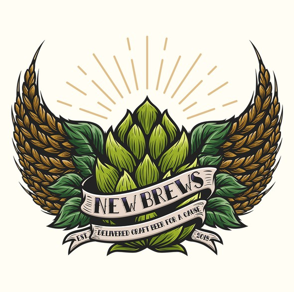 New logo with the title 'New Brews'