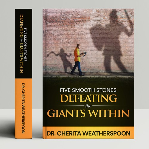 Giant design with the title 'Five Smooth Stones DEFEATING THE  GIANTS WITHIN'