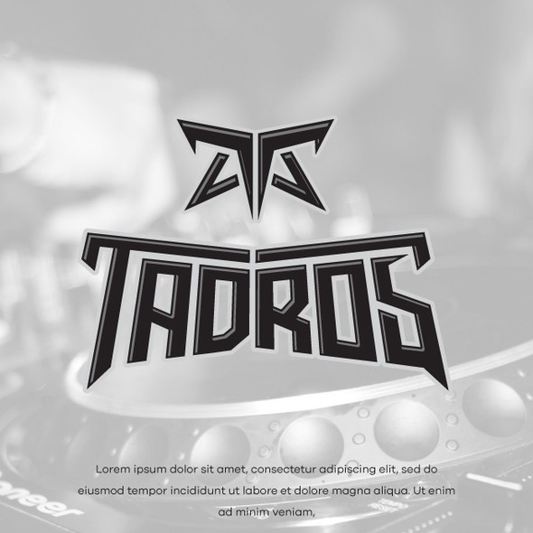 Custom font design with the title 'TADROS'