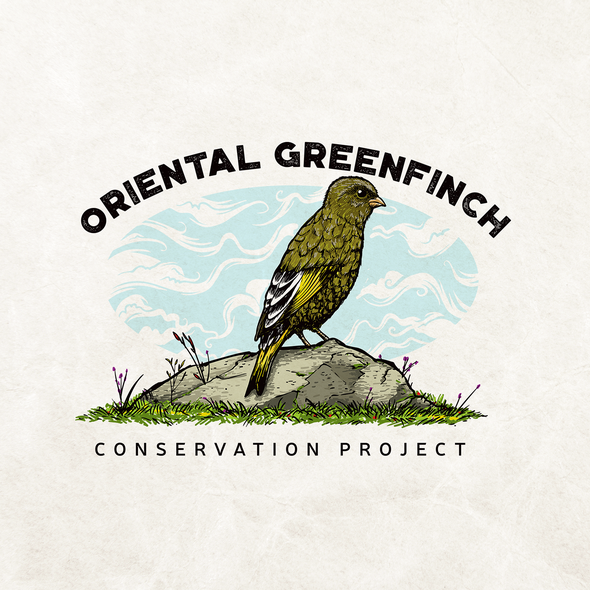 Finch logo with the title 'Oriental Greenfinch'