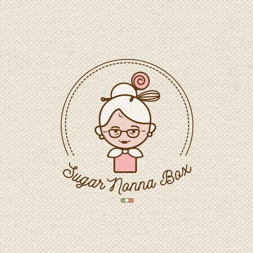 Personal logo with the title 'Sugar Nonna Box logo'