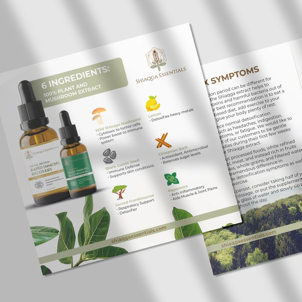 Recovery design with the title 'Shiaqga Essentials Card/Flyer Design'