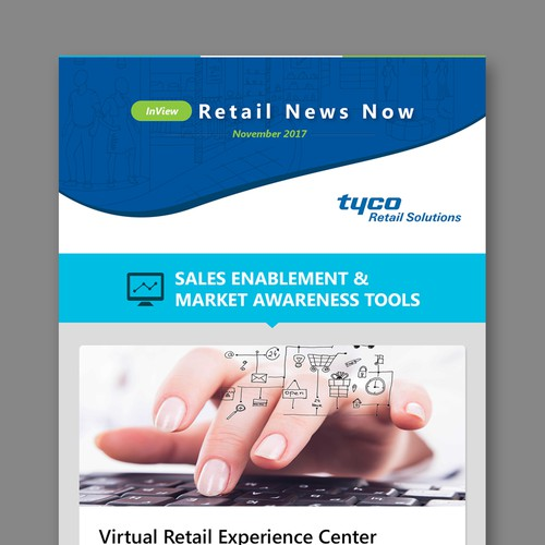 Newsletter design with the title 'Newsletter Template Design for Tyco Retail Solutions '
