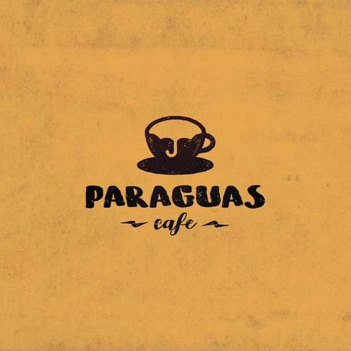 Mug logo with the title 'Paraguas Cafe'