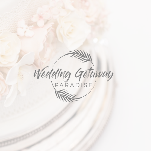 Wedding logo with the title 'Elegant logo design'