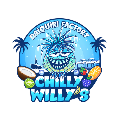 Ice design with the title 'CHILLY WILLY'S'