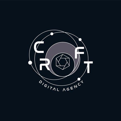 NASA design with the title 'Logo design for digital agency'