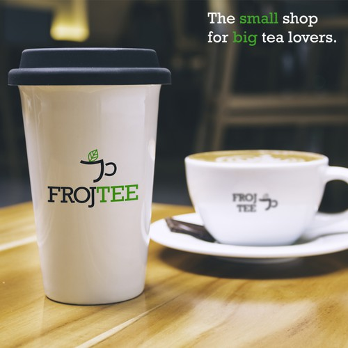 Lovers design with the title 'Frojtee Logo and Mockups'