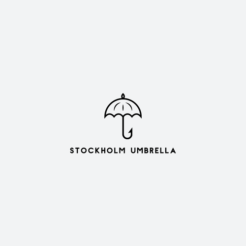 Umbrella logo with the title 'Logo for umbrella company based in Stockholm'