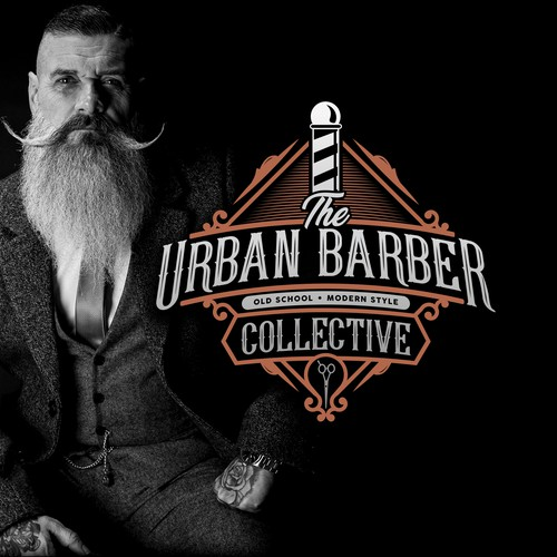 Modern design with the title 'Vintage style logo for a unique brooming and barber company'