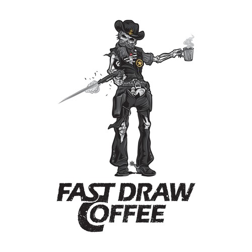Outlaw logo with the title 'Fast Draw Coffee'
