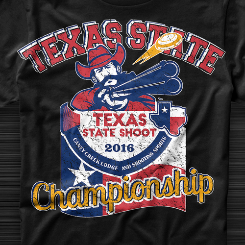 Flag t-shirt with the title 'Texas state championship '