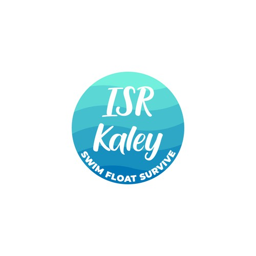 Swimming logo with the title 'Logo Design for ISR Kaley'