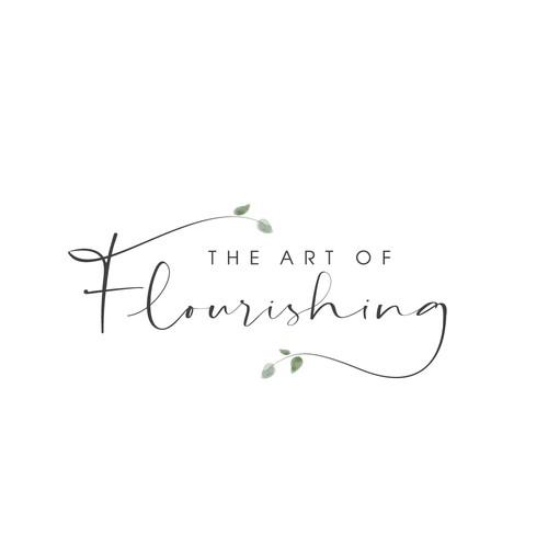 Botanical design with the title 'Minimalist botanic-floral style logo for psychologist'