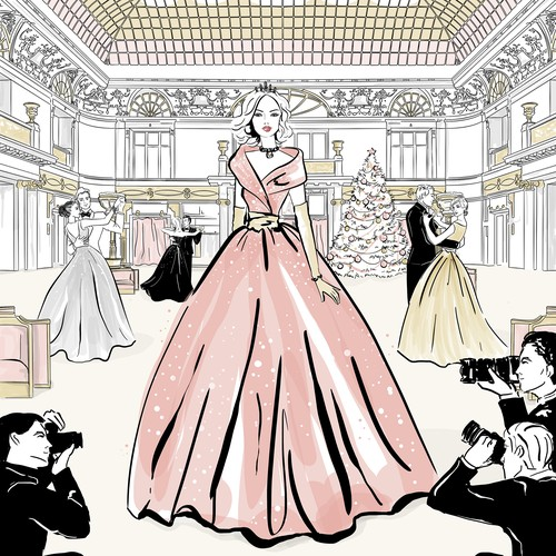 Princess design with the title 'Metropol Hotel New Year Ball'