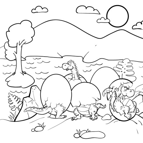 Outline illustration with the title 'outline'
