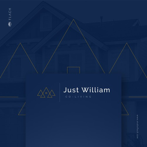 Room design with the title 'Just William Co-Living'