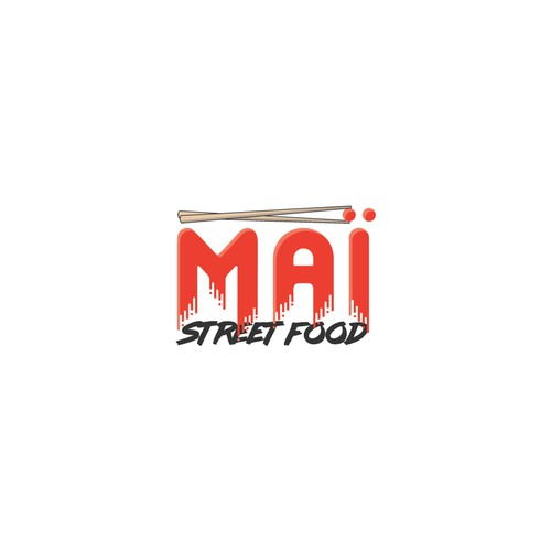 Street art logo with the title 'Logo for online restaurant'