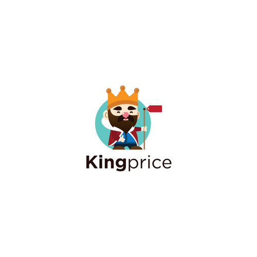 Pictorial logo with the title 'King Price Logo'