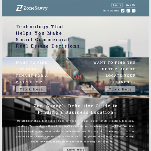 Awesome website with the title 'ZoneSavvy'