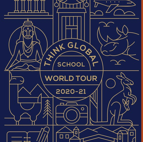 World design with the title 'Think Global School'