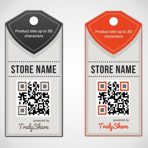 Tag design with the title 'Design eye-catching retail tag'