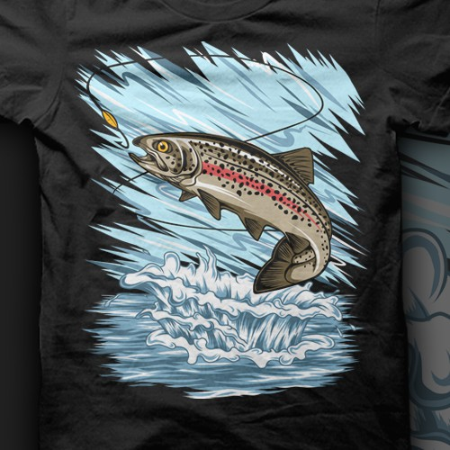Fish t-shirt with the title 'Trout Fishing'