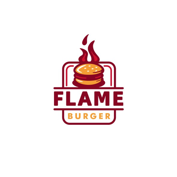 Fast food brand with the title 'Flame Burger'