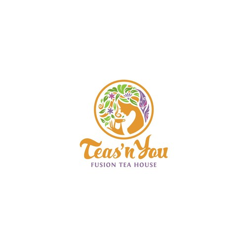 Fairy wing logo with the title 'Teas'n You Logo Design'