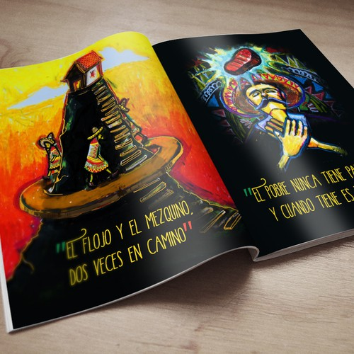 Mexican design with the title 'Illustrations to Book of Mexican Sayings'
