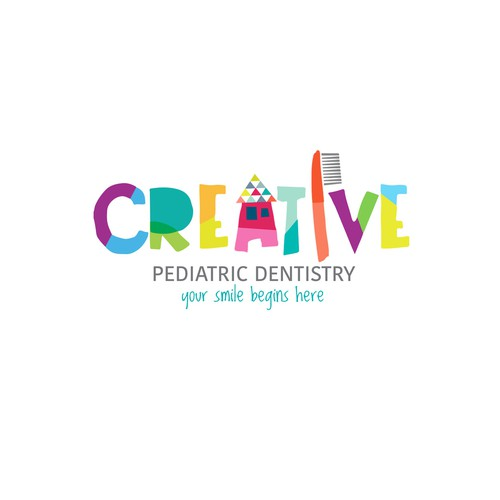 Pediatric logo with the title 'logo for pediatric dentistry'