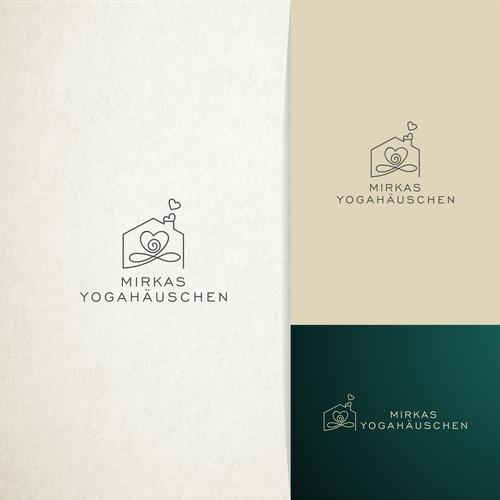 Yoga design with the title 'Logo design for Mirkas Yogahäuschen'