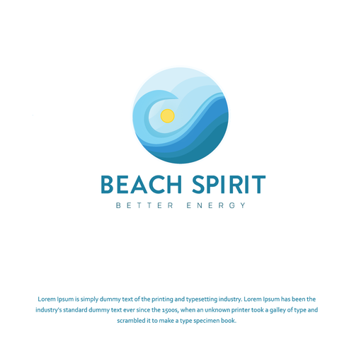 Beachwear design with the title 'bold logo concept for Beach Spirit'