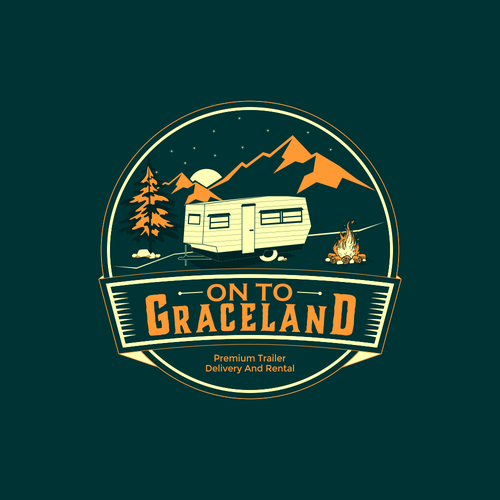 Camper logo with the title 'ON TO GRACELAND'