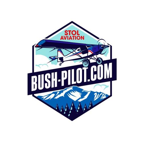 Pilot design with the title 'Winner of Bush Pilot Contest'