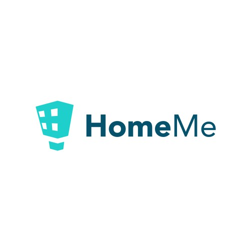 Aqua design with the title 'HomeMe'