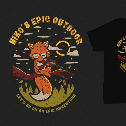 Adventure t-shirt with the title 'Fox Design'
