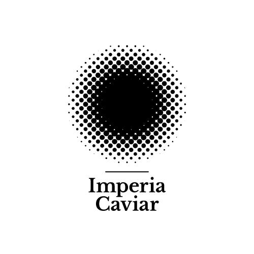Dot design with the title 'Imperia Caviar'
