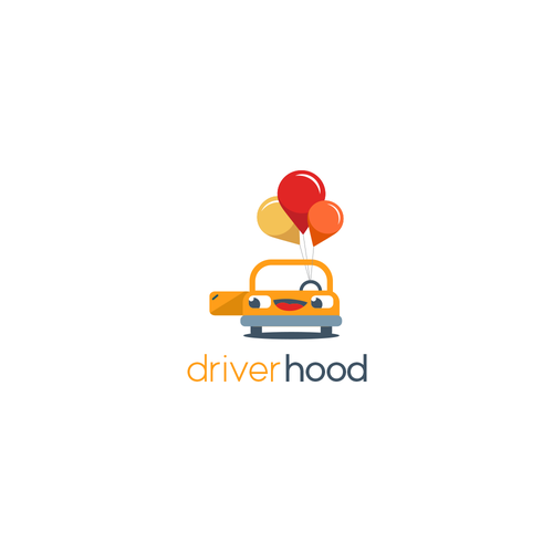 Driver design with the title 'App design for a ride share company'