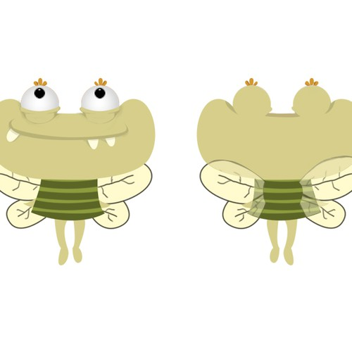 Creature artwork with the title 'IOS/Android Cartoon game character'